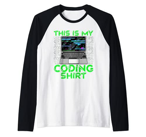 Esta es mi codificación Camisa Coder Pila Completa Desarrollador Web Dev Camiseta Manga Raglan