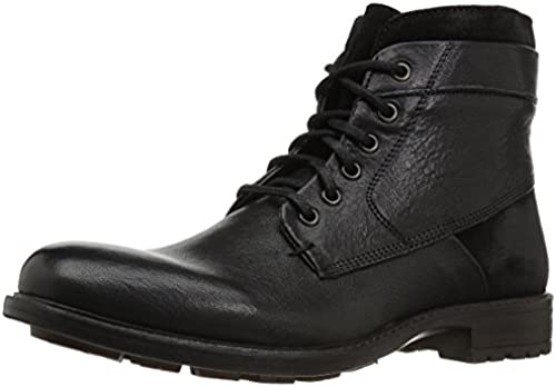Steve Madden Men& 039;s Hardin Combat Stiefel, schwarz Leather, 12 UK US Größe Conversion M US