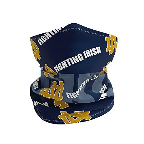 Neck Gaiter College Team Logo Unisex-Adult Multiuse Face Cover Scarf (Notre Dame Fighting Irish)