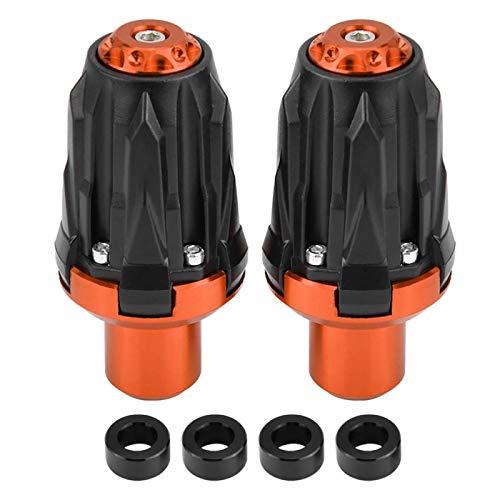 Hlyjoon 2Pcs Moto Deslizadores de Marco de Escape Modificados 10mm Protector Antideslizante para Motocicleta Nylon Moto Rueda Eje Deslizador Protección Contra Caídas Accesorio Dep(naranja)