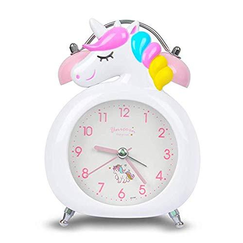 Wecker für Kids Heavy Sleepers, Durable (Weiß Einhorn)