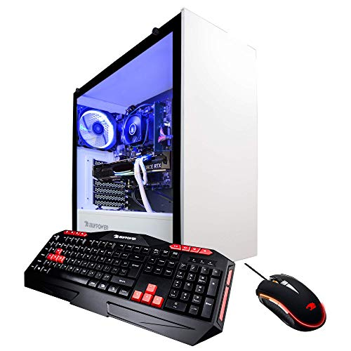 iBUYPOWER Elite Gaming PC Computer Desktop ARC 066A (AMD Ryzen 7 2700X 3.7GHz, NVIDIA GeForce RTX 2060 6GB, 8GB DDR4-2666 RAM, 1TB HDD, 240GB SSD, WiFi Included, Win 10 Home, VR Ready), White