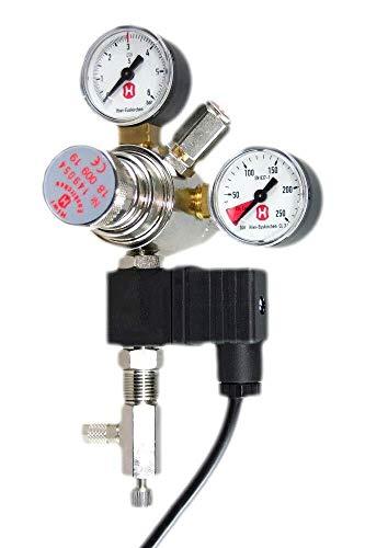 Hiwi Druckminderer CO2 Profi Variante Mehrweg mit Magnetventil und Rückschlagventil Nadelventil Aquarium Nachtabschaltung Made in Germany