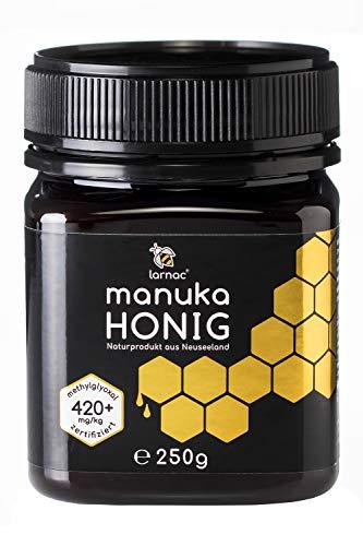 Larnac Manuka Honig MGO 420+ aus Neuseeland, 250g, Methylglyoxal zertifiziert