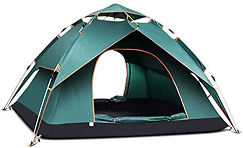 LAZ Camping Tent 3-4 Person Automatic Instant Pop Up Waterproof Camping Hiking Travel Beach Tents for Family Groups,Outdoor Dome Tent,Big Space