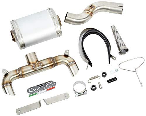 GPR EXHAUST SYSTEM Scarico - S.147.AO Terminale Omologato con Raccordo, Compatibile con SUZUKI GSR 400 2006/11 GHOST LINE, Alluminio Ghost