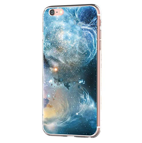iPhone 6 iPhone 6s hülle Tasten Fonts Schutzhülle Clear Case Cover Bumper Anti-Scratch TPU Silikon Durchsichtig Handyhülle für iPhone 6 Plus/6s Plus (Apple iPhone 6/6s, Galaxis 2)