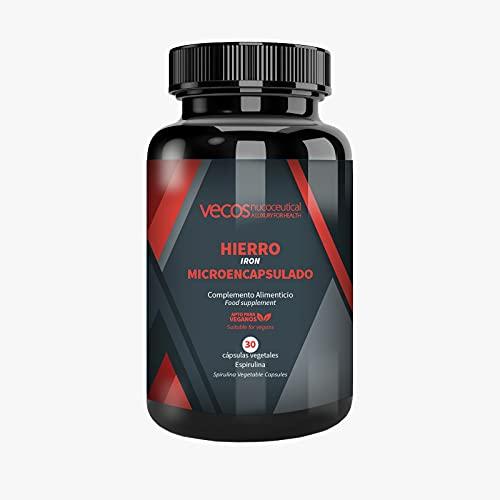Hierro microencapsulado con ácido fólico y tecnología liposomial de alta biodisponibilidad para proteger de la irritación intestinal – Vitaminas A, B6, B12 y C para mayor absorción –Aptas Veganos (30)