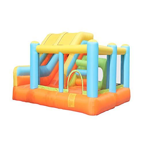 Bouncy Castles Aufblasbare Schlossrutschen Aufblasbare Kinder mit Kletterwand, Sprungbrett mit Luftgebläse, für Außen- und Innenbereich, langlebig mit extra dickem Material genäht