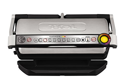 T-fal GC722D53 1800W OptiGrill XL Stainless Steel Large Indoor Electric Grill with...