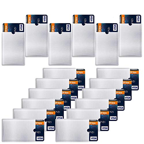 Outgeek RFID Blocking Sleeves,Credit Card Protectors 60 PCS Credit Card Holder Anti Theft Electronic Pickpocketing fits Wallet/Purse for Men and Women
