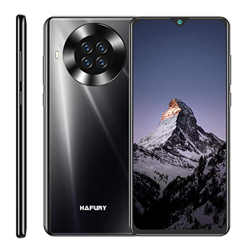 Hafury K30 64GB SIM Free Moible Phone, Smartphone Unlcoked With 6.5 Inch Dewdrop, Android 10, 3GB RAM, Four Rear Camera, 4200mAh Battery, 4G Dual SIM, NFC, GPS, WiFi, UK Version (Black)