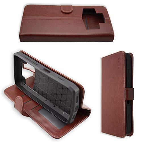 caseroxx Handy Hülle Tasche kompatibel mit Ulefone Power 5 / Power 5s Bookstyle-Hülle Wallet Hülle in braun