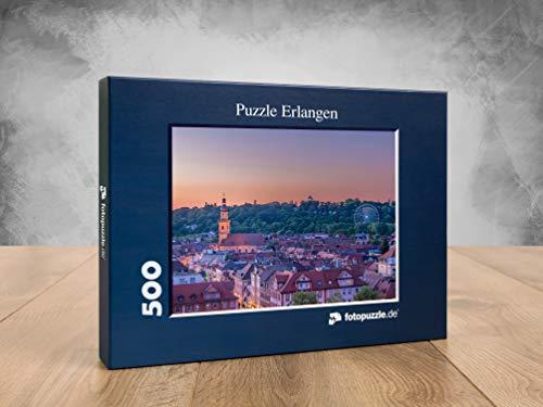 fotopuzzle.de Puzzle Erlangen - Blick auf den Erlanger Burgberg in 500 Teilen