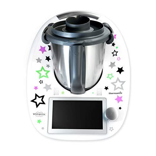 coolina® Sticker Aufkleber Sternentanz Lila passend für Thermomix TM6/ TM5/ TM31/ Cook-Key