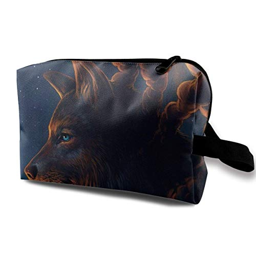 Wolf Series (10) Portable Travel Cosmetic Bags Makeup Organizer Bags Grande Capacity Toiletry Organizer Cases Travel Pouch Purse