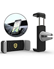 Tarkan [Rubberized] Premium Air Vent Universal Car Mount Holder for All Mobile Phones [4 Inch to 6.3 Inch]