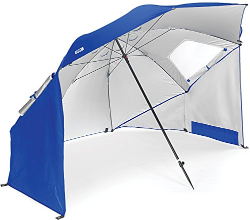 Sport-Brella Vented UPF 50+ Sun and Rain Canopy Umbrella for Beach and Sports Events (8-Foot, Blue)