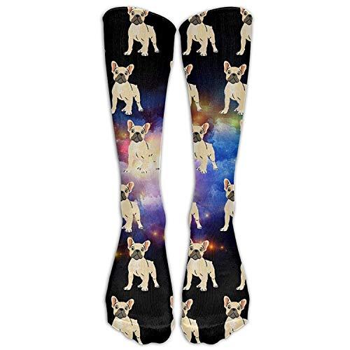 French Bulldog - Calcetines unisex de alta calidad para pantorrilla (talla 6-10)