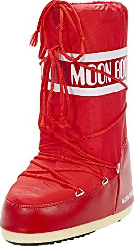 Moon Boot 140044, Stivali Invernali Unisex, Materiale suola: Gomma, Rosso (Rosso), 35-38