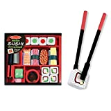 Melissa & Doug Sushi Slicing Play Set Multi Colored, H: 10 x W: 9 x D: 2
