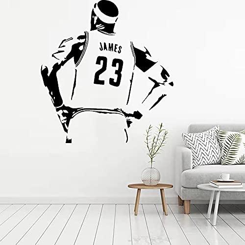 Baloncesto Deportes Estrella Jugador LeBron James LBJ # 23 Slam Dunk Vinilo Etiqueta de la pared Calcomanía del coche Ventiladores para niños Dormitorio Sala de estar GYM Club Decoración para el