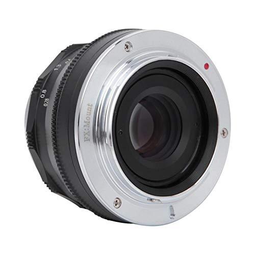 BOLORAMO Objektiv Manueller Fokus 35mm Multilayer Film Coating FX Mount Objektiv Fit für Fujifilm XT3 XT100 XT(Black)