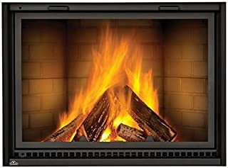 NZ8000 Linear Wood Burning Fireplace with Smooth Brick Kit