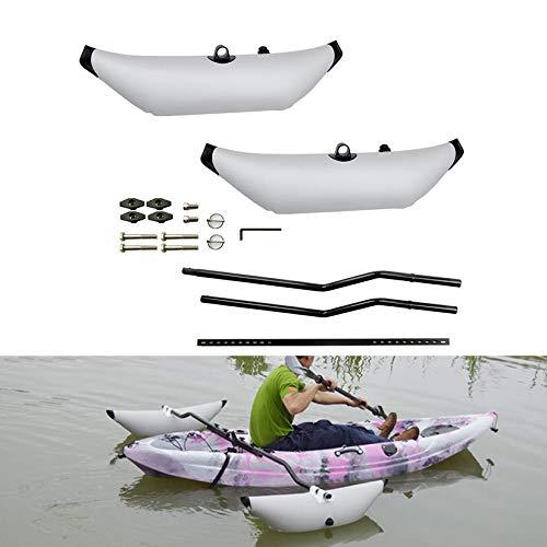 HENGGE Sistema De Estabilización De Kayak, Kayak PVC Outrigger Infigger Estabilizadores De Kayak para Pesca Estabilizadores De Kayak,Gris