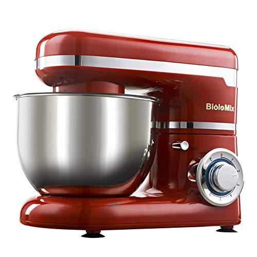 DOLPHINEGG Polyvalent Stand Mixer 1200 w 4L en Acier Inoxydable Bol 6-Speed Cuisine Stand mélangeur crème Oeuf Fouet mélangeur gâteau pâte à Pain mélangeur Machine Maker