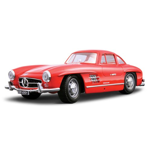 Bburago 12047R - Modellauto 1:18 Mercedes Benz 300 Sl 1954, rot, Fahrzeuge