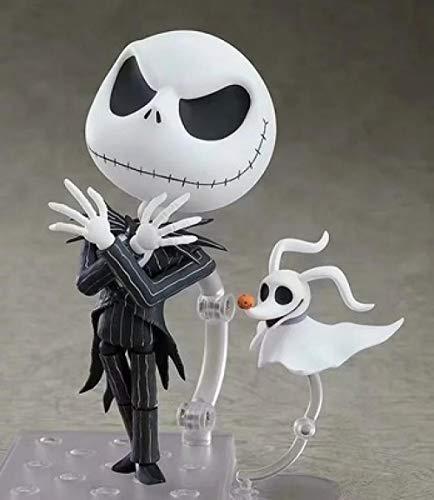 Figura de acción de Anime Modelo Versión Q de Clay La Pesadilla Antes de Navidad Skull Jack Movable Face Doll High Aprox 10CM de Juguetes para Regalo de Amigo