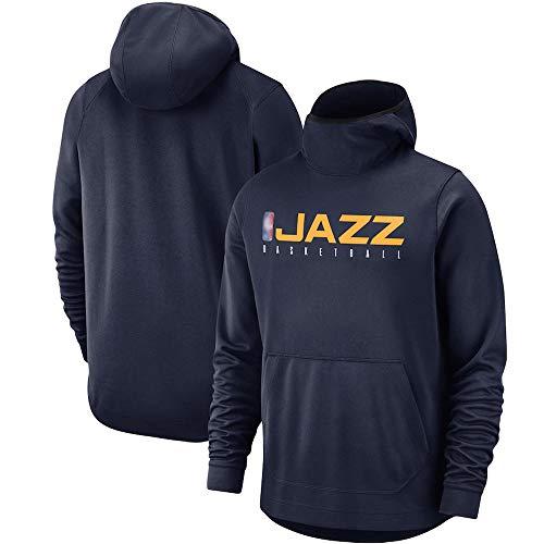 Sudadera con Capucha De Baloncesto Utah Jazz para Hombre De La NBA, Jersey Cálido De Manga Larga, Jersey con Capucha, Suéter Suelto, Camisa Deportiva Al Aire Libre,Dark Blue,XL