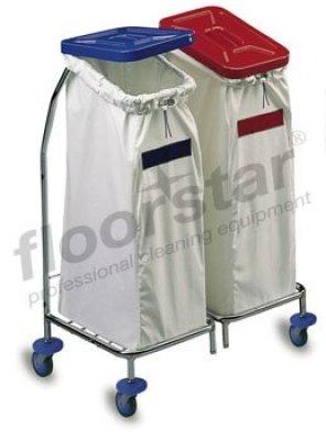 Floorstar WS 2 Wäschesammler chrom 2-fach