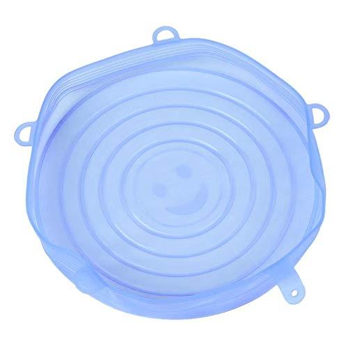 tasses casseroles Couvercles de bol en silicone BESTONZON Couvercles Silicone de qualit/é alimentaire Premium Couvercles daspiration r/éutilisables pour vos bols pots vert