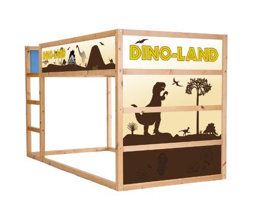 STIKKIPIX Dino Möbelsticker/Aufkleber für das Hochbett KURA von IKEA - IM02 - Möbel Nicht Inklusive