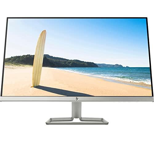 "HP 27fw – Monitor de 27"" Full HD (1920 x 1080, 75Hz, 5ms, IPS LED, 16:9, AMD FreeSync, HDMI, VGA, Antirreflejo, Antiestático, Low Blue Light, Inclinación Ajustable) Plata"