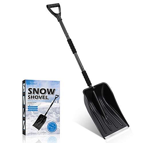 BESPORTBLE Pala de Nieve Pala Portátil Pala de Nieve de Emergencia de Plástico Desmontable con Mango Ajustable Y Poste de Acero Inoxidable para Coche Camión Entrada de Coche Acampar Al Aire