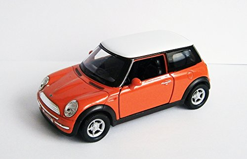 Anik-Shop Mini Cooper 11cm Modellauto Metall Modell Auto Spielzeugauto 4 Varianten 33 (Orange)