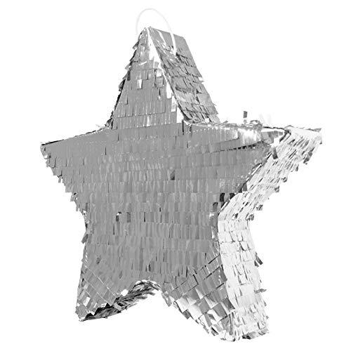 Folat Pinata Etoile Couleur Argentée-45cm, 60935, Silber, Costumes