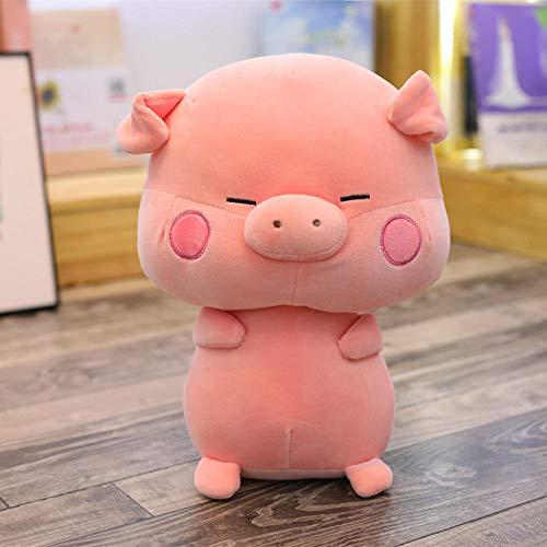 GYYCV Niedliches Schwein Plüschtier Gefüllte Chinesische Tierkreis Schwein Puppe, Cartoon Kissen Weiche Schöne Tiere Kissen, Für Kinder Kinder Mädchen Geburtstag Geschenke-45Cm_Pink