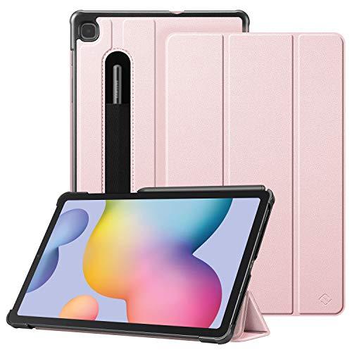 Fintie Hülle für Samsung Galaxy Tab S6 Lite - Ultra Schlank Kunstleder Schutzhülle mit Stifthalter, Auto Schlaf/Wach Funktion für Samsung Tab S6 Lite 10.4 SM-P610/ P615 2020, Roségold