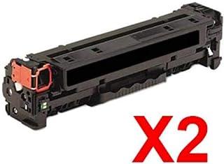 2 x Compatible HP CF380X Black Toner Cartridge 312X