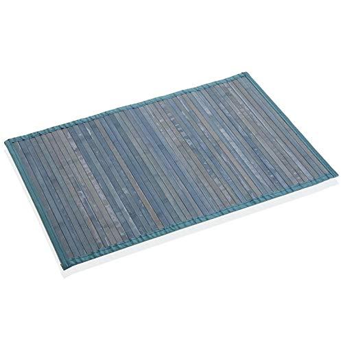 Versa Azul Alfombra Bambú, Única