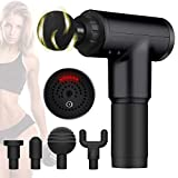 Professional Deep Tissue Percussion Massage Gun for Athletes,Cordless Vibration Massage Device Helps Relieve Muscle Soreness and Stiffness,Massagers for Neck and Back(Black)