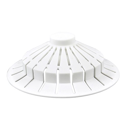 Danco 10771 Universal Bathroom Bathtub Suction Cup Hair Catcher Strainer and Snare | Fits Lift & Turn, Push Button & Trip Lever Drains |, White
