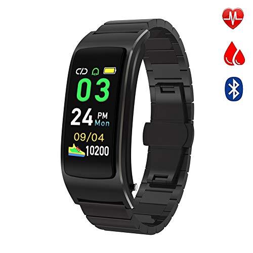 OOLIFENG Fitness Tracker, Bluetooth Oortelefoon Activiteit Horloge Waterdichte IP68 met Hartslagmeter Smartwatch voor Kinderen Vrouwen en Mannen Bel SMS SNS Kennisgeving