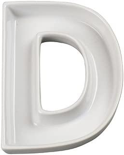 Ivy Lane Design Ceramic Love Letter Dish, Letter D, White