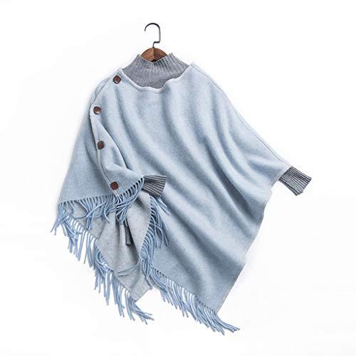 Moda Bufanda Chal La lana de color sólido doble habitación con aire acondicionado de la borla de la bufanda del mantón temperamento del otoño y del invierno Capa Mujer Bufanda acogedora