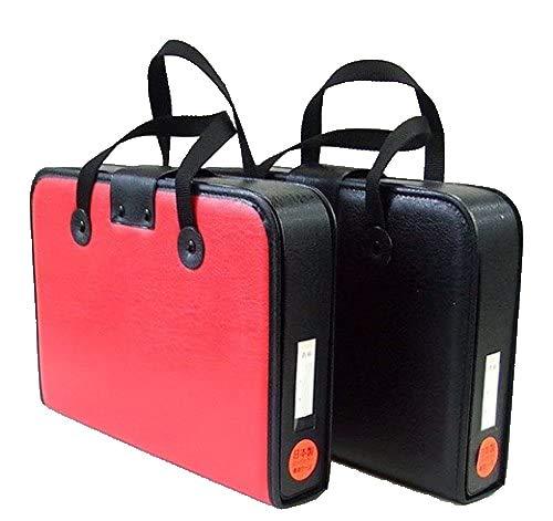 子供用 高級 書道セット 習字セット 日本製ハードケース 本石硯 筆巻き付 (ケースの色:赤)